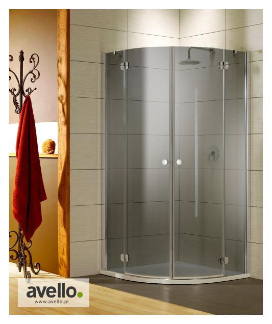Kabina prysznicowa ze szkłem grafitowym
