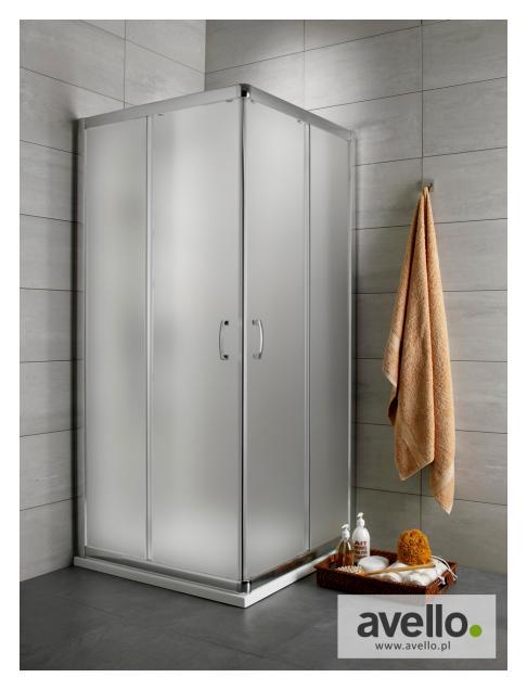 Kabina prysznicowa ze szkłem szronionym (satynowym)