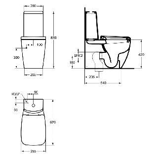 zestaw kompaktowy wc prosty w komplecie z desk sedesow ideal standard ventuno t321401 t416401. Black Bedroom Furniture Sets. Home Design Ideas