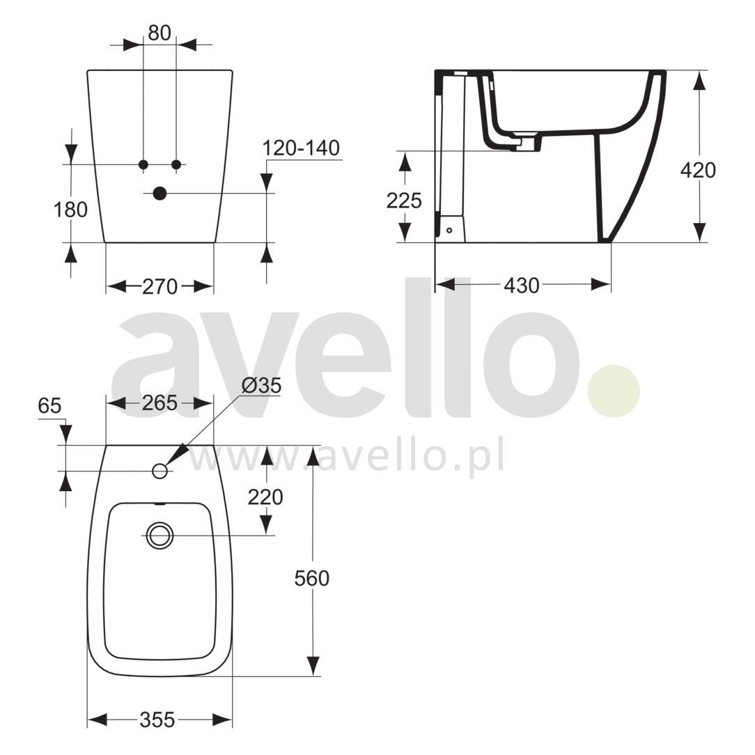 bidet stoj cy ideal standard ventuno t515001. Black Bedroom Furniture Sets. Home Design Ideas