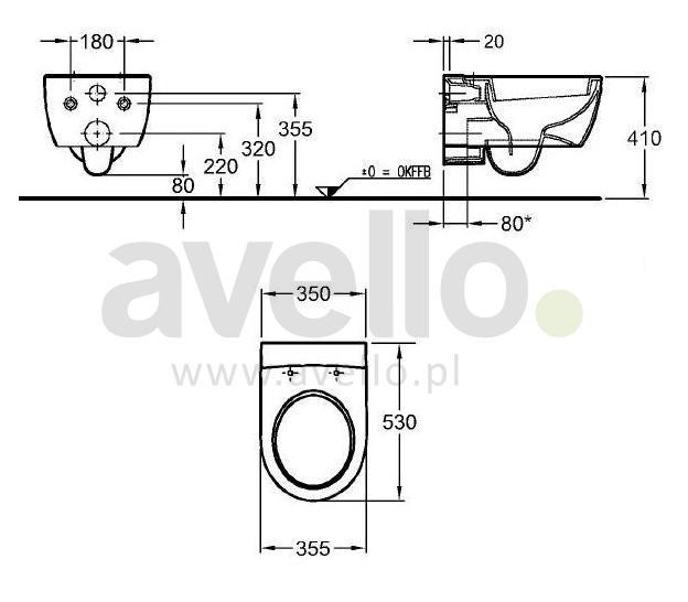 miska wc wisz ca keramag 4u 203450. Black Bedroom Furniture Sets. Home Design Ideas